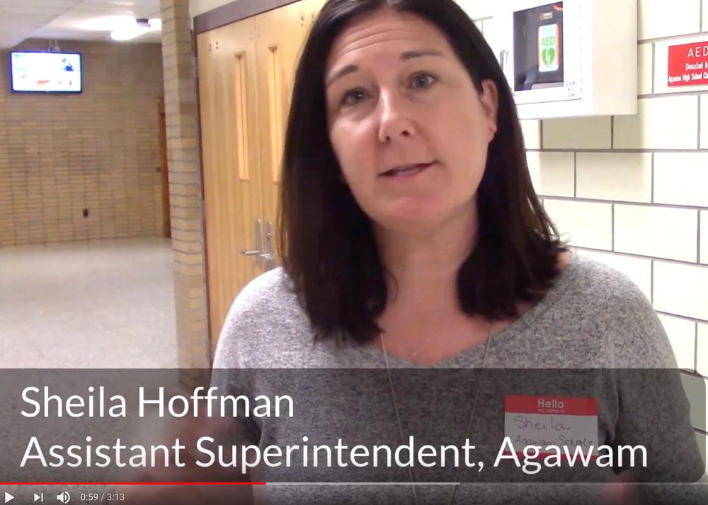 Assistant Superintendent, Sheila Hoffman, Agawam
