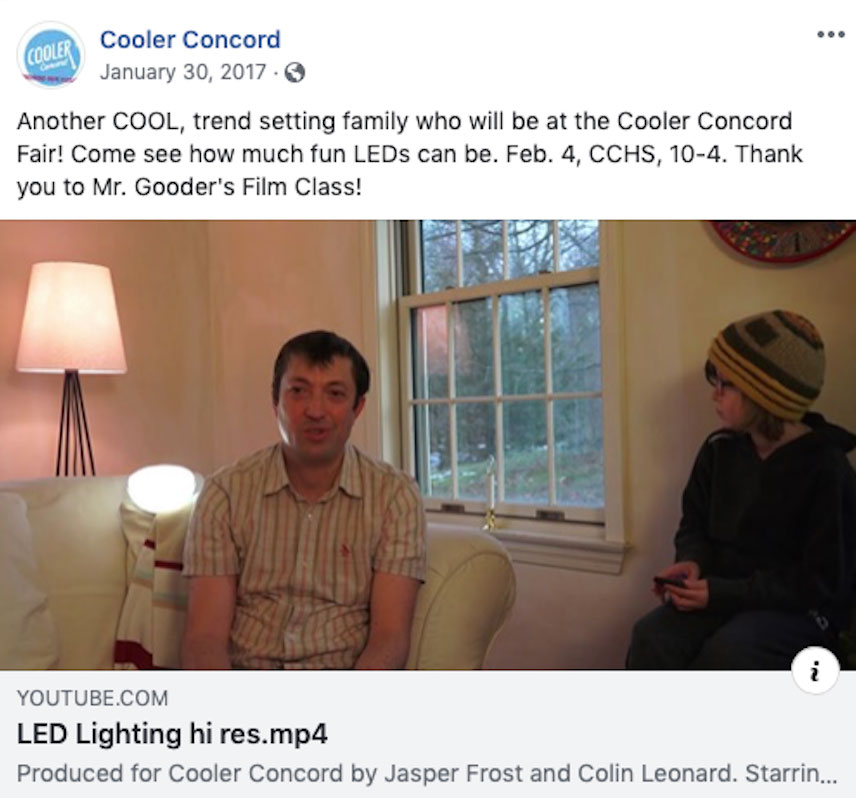 Facebook interviews with energy-saving neighbors encourage others