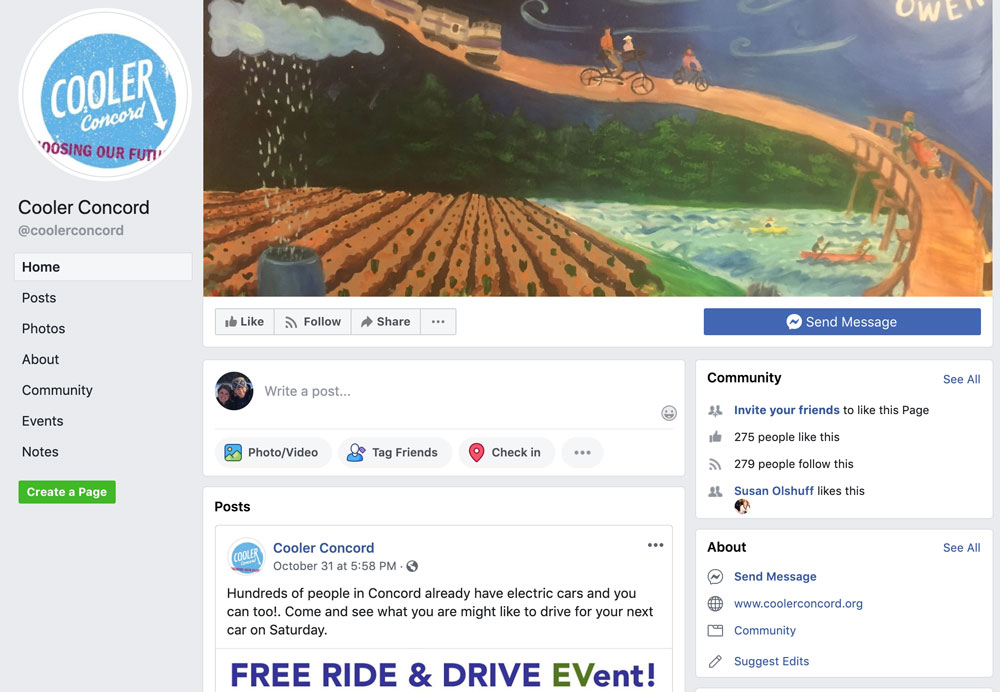 Cooler Concord Facebook page